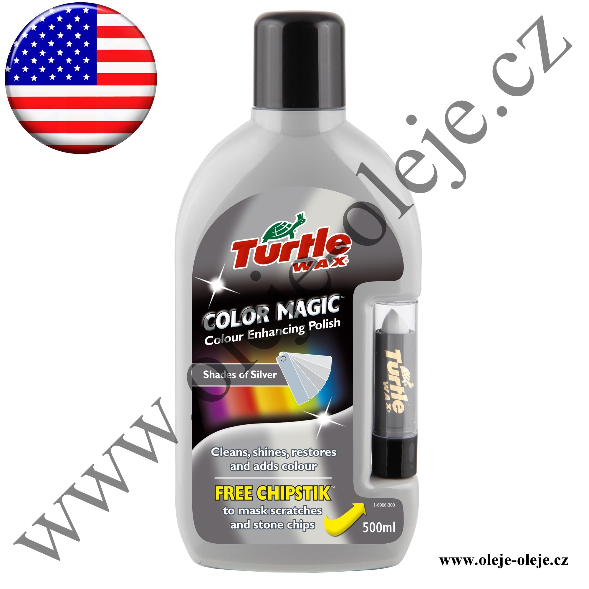 Turtle Wax Color Magic Plus - barevný vosk stříbrný 500 ml