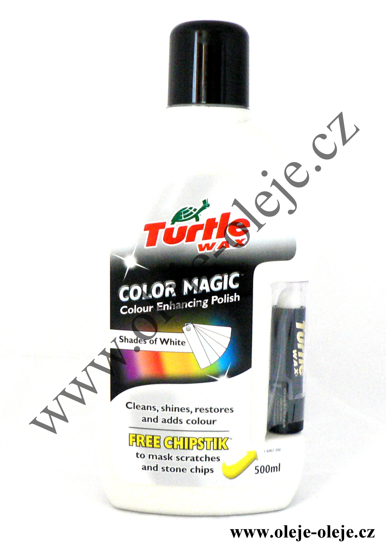 Turtle Wax Color Magic Plus - barevný vosk bílý 500 ml