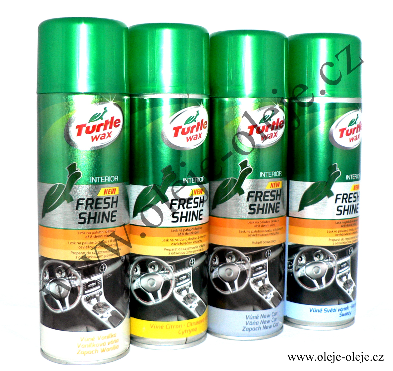 Turtle Wax Fresh Shine sprej na palubní desku - new car 500 ml